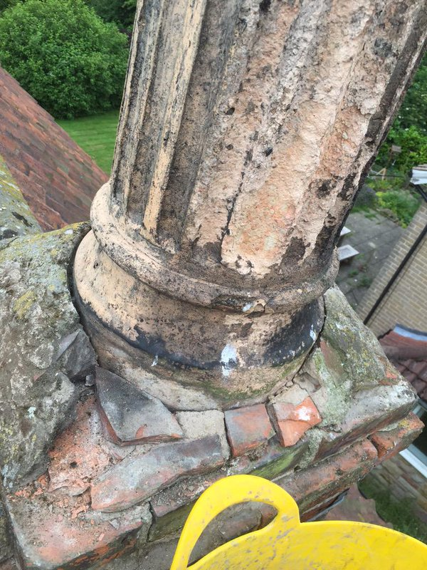 Is your Chimney Pot Dangerous Like This?