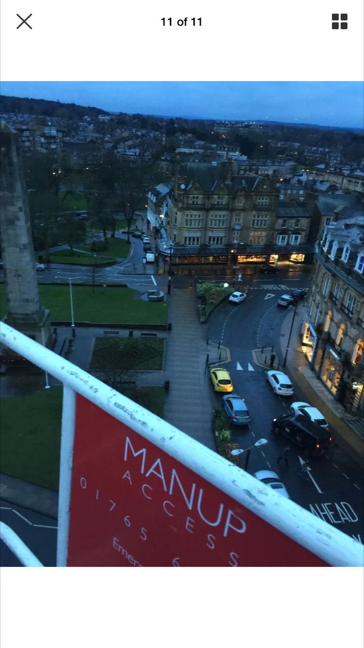 Looking down on Betty's Harrogate